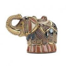 Elefant din ceramica, pictat manual