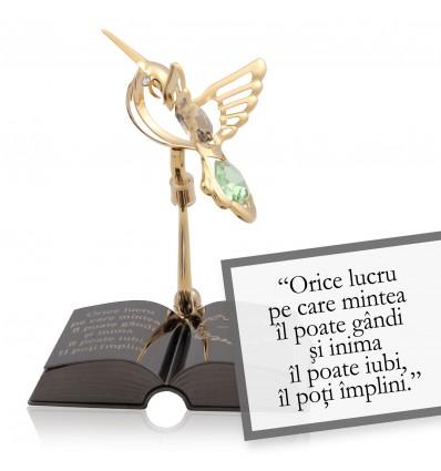 Napoleon Hill - despre gandirea pozitiva - Colectia citate motivationale cu cristale Swarovski