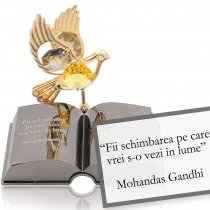 Mohandas Ghandi - despre schimbare - Colectia citate motivationale cu cristale Swarovski