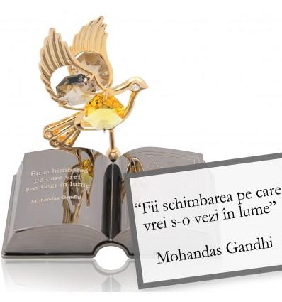 Ghandi-despre schimbare-Citat motivational Swarovski