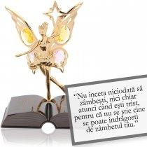 Gabriel Garcia Marquez - despre zambet - Colectia citate motivationale cu cristale Swarovski
