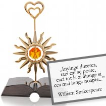 "Shakespeare-""Despre optimism""-citat motivational Swarovski"