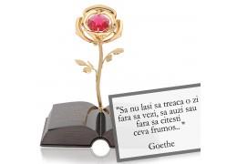 "Goethe - despre viata -  Colectia ""Citate motivationale cu cristale Swarovski"""