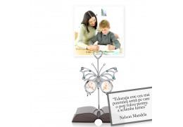 """Nelson Mandela - despre educatie -  Colectia """"Citate motivationale cu cristale Swarovski"""""""