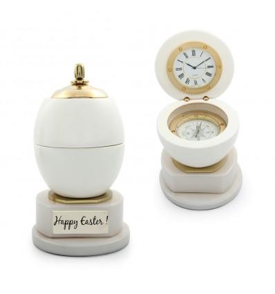 Ou Faberge  - caseta din lemn cu ceas si busola