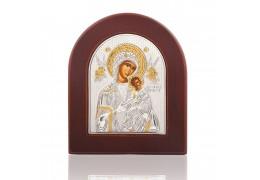 Fecioara Maria si Pruncul - Icoana pe foita de argint