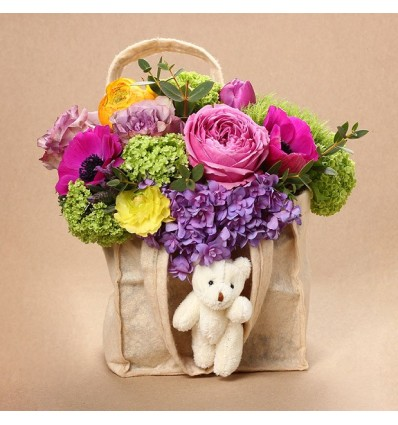"""Aranjament floral -  """"New Baby in Town"""""""