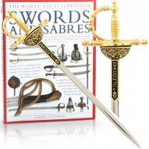 Sabie -  cutit de corespondenta incrustat cu fir de aur Toledo