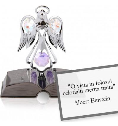 "Albert Einstein - Despre viata - Colectia ""Citate motivationale cu cristale Swarovski"""