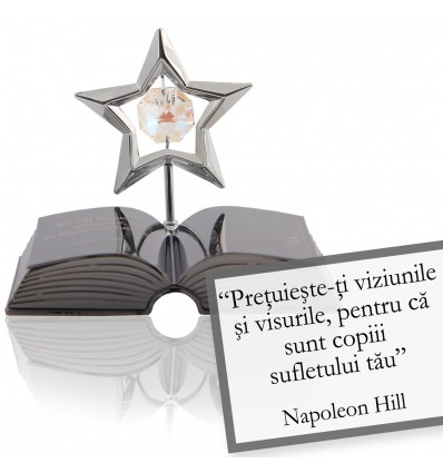 Napoleon Hill - despre viziune - Colectia citate motivationale cu cristale Swarovski