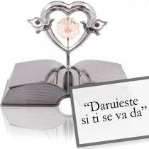 Inimioara cu Swarovski  Colectia Povestea Bibliei