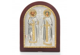 Icoana din argint cu Sfintii Constantin si Elena
