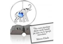 """Mircea Eliade - Despre curaj - Colectia """"Citate motivationale cu cristale Swarovski"""""""