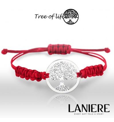 Bratara din aur 14K cu diamant - Tree of Life - lucky charm