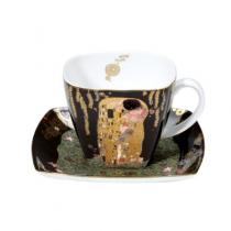 """Ceasca de cafea sau cappuccino """"Sarutul"""" Gustav Klimt - Goebel"""