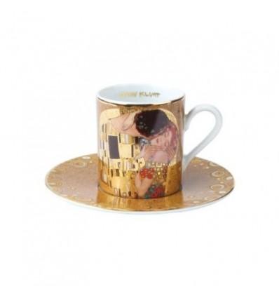 """Ceasca espresso cu farfurie """"Sarutul"""" Klimt - Goebel"""