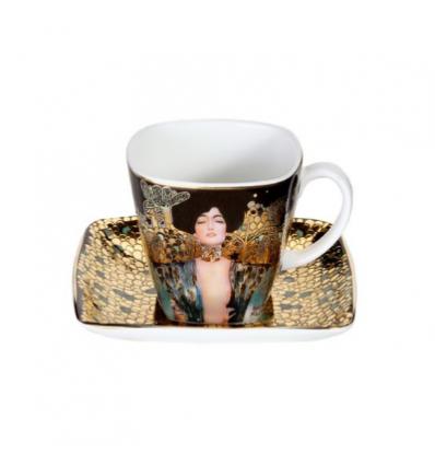 """Ceasca espresso cu farfurie """"Judith I"""" Klimt - Goebel"""