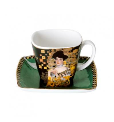 """Ceasca espresso cu farfurie """"Adele Bloch-Bauer"""" Klimt - Goebel"""