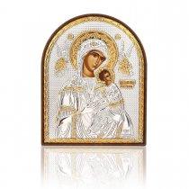 Maica Domnului cu pruncul - Icoana pe foita de argint
