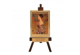 "Sevalet ""Doamna cu evantaiul"" Klimt - foita de aur 23kt"