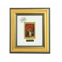 "Tablou ""Vaza cu maci rosii""  Van Gogh - pe foita de aur de 23 Kt."