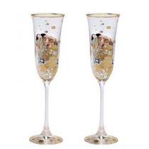 """Set de 2 pahare de sampanie """"Implinire"""" Gustav Klimt - Goebel"""