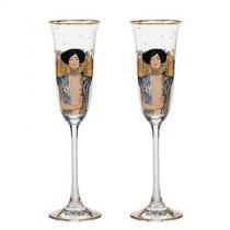 "Set de 2 pahare de sampanie ""Judith I"" Gustav Klimt - Goebel"