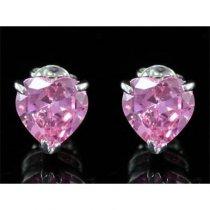 "Cercei ""Pink Heart Simulated Sapphire"""