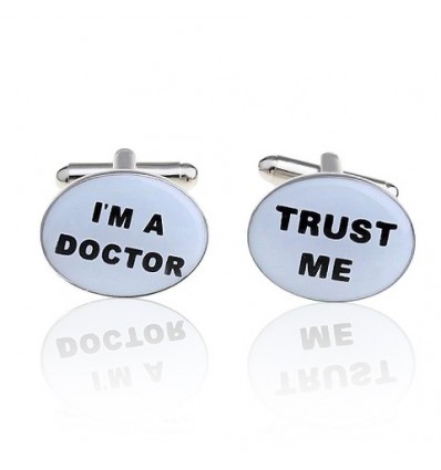 """Butoni de camasa """"Trust me, I'm a doctor"""""""