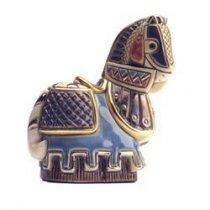 Cal medieval din ceramica portelanata - editie de colectie