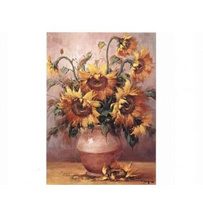 """Tablou pe sevalet """"Vaza cu floarea soarelui"""""""
