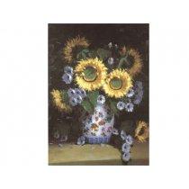 Vaza cu floarea soarelui - Tablou pe sevalet