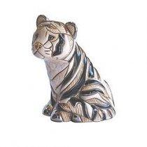 Tigru alb care sta din ceramica portelanata