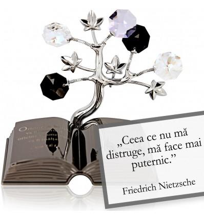 "Friedrich Nietzsche - Despre viata - Colectia ""Citate motivationale cu cristale Swarovski"""