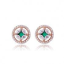 """Cercei cu cristale Swarovski """"Emerald Stars"""""""