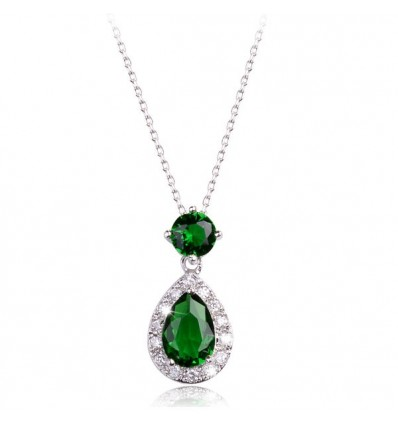 "Colier made with Swarovski Elements ""Emerald Dream"""