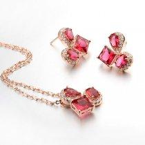 """Set de bijuterii cu cristale """"Sweet Raspberry"""""""