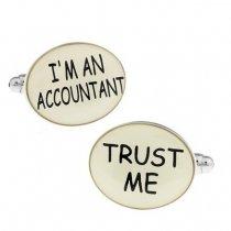 """Butoni de camasa """"Trust me, I'm an Accountant"""""""