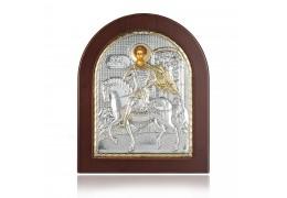 Icoana din argint cu Sfantul Dumitru