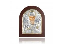 Icoana din argint cu Sfantul Nicolae