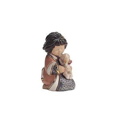 Iubire de catelus - figurina din ceramica