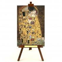 "Tablou pe sevalet ""Sarutul"" Klimt"