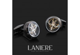 Butoni Tourbillon cu mecanism de ceas - LANIERE
