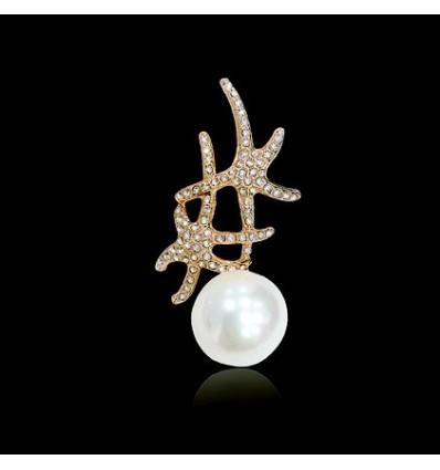 Brosa Starfish Pearl