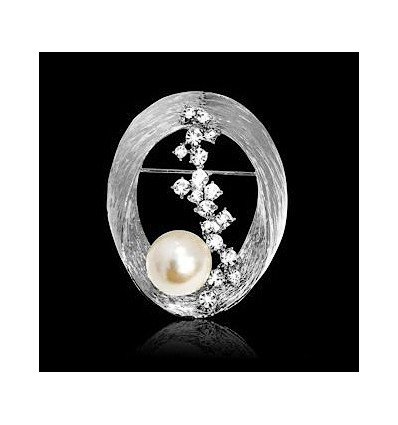 Brosa Pearl and Diamonds Embrace