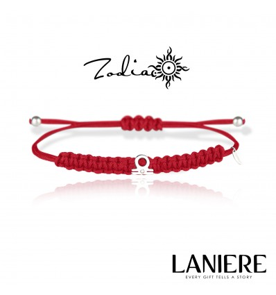 "Bratara din aur 14K cu diamant zodia Balanta ""LUCKY CHARM"" LANIERE"