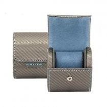 """Caseta de lux pentru ceas """"Carbon Fiber Silver"""""""