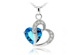 Colier din argint Blue Diamond In Love