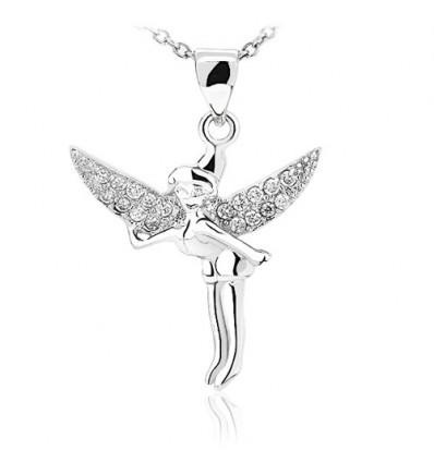 Tinkerbell colier din argint cu cristale