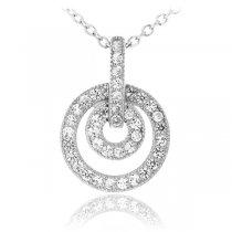 "Colier din argint cu cristale ""Circles"""